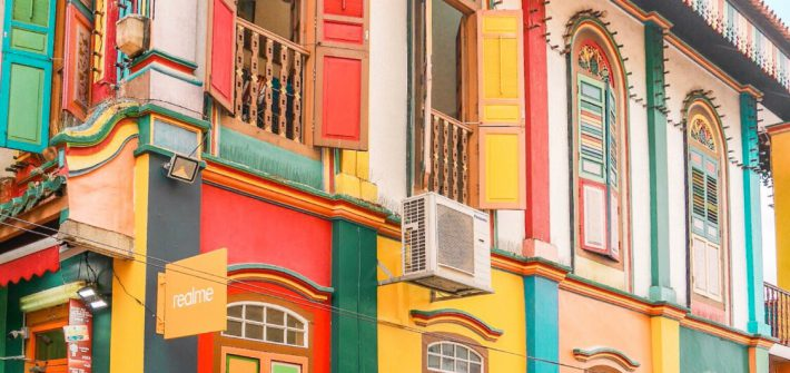 Colorful facade of the most famous house in Little India